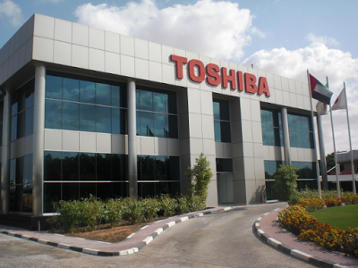 Shares of Toshiba fell by 43%