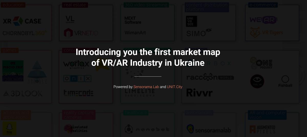 Українські стартапи сегмента VR/AR каталогізували