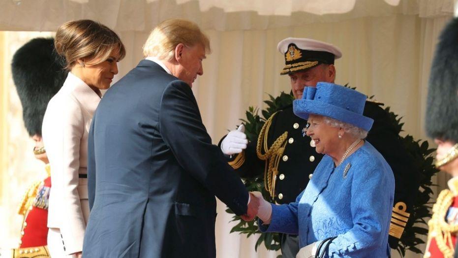 Дональд Трамп встретился с королевой Великобритании Елизаветой II в Виндзорском замке
