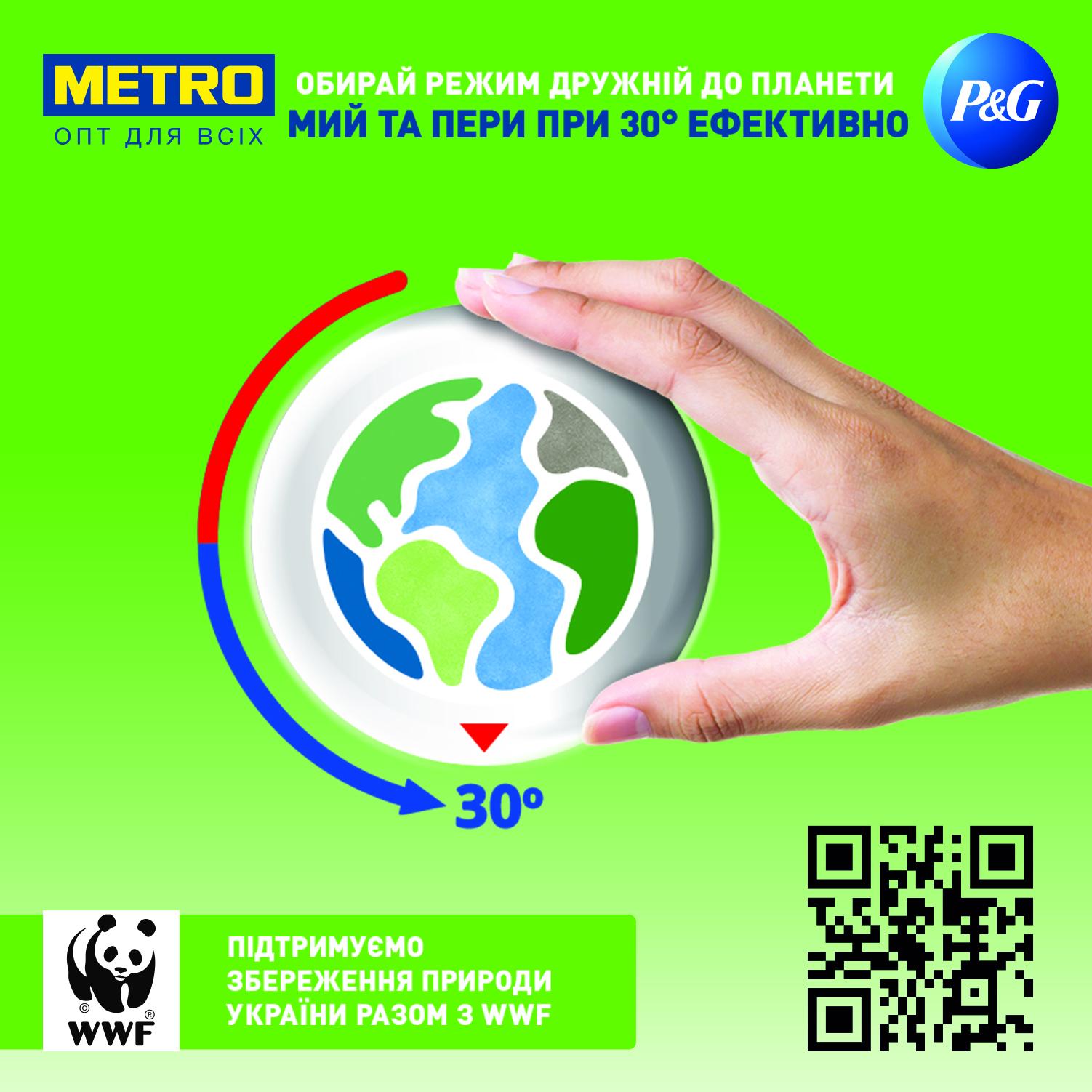 METRO Україна, Procter & Gamble Україна та Всесвітній фонд природи проводять спільну освітню кампанію «Обирай режим, дружній до планети»